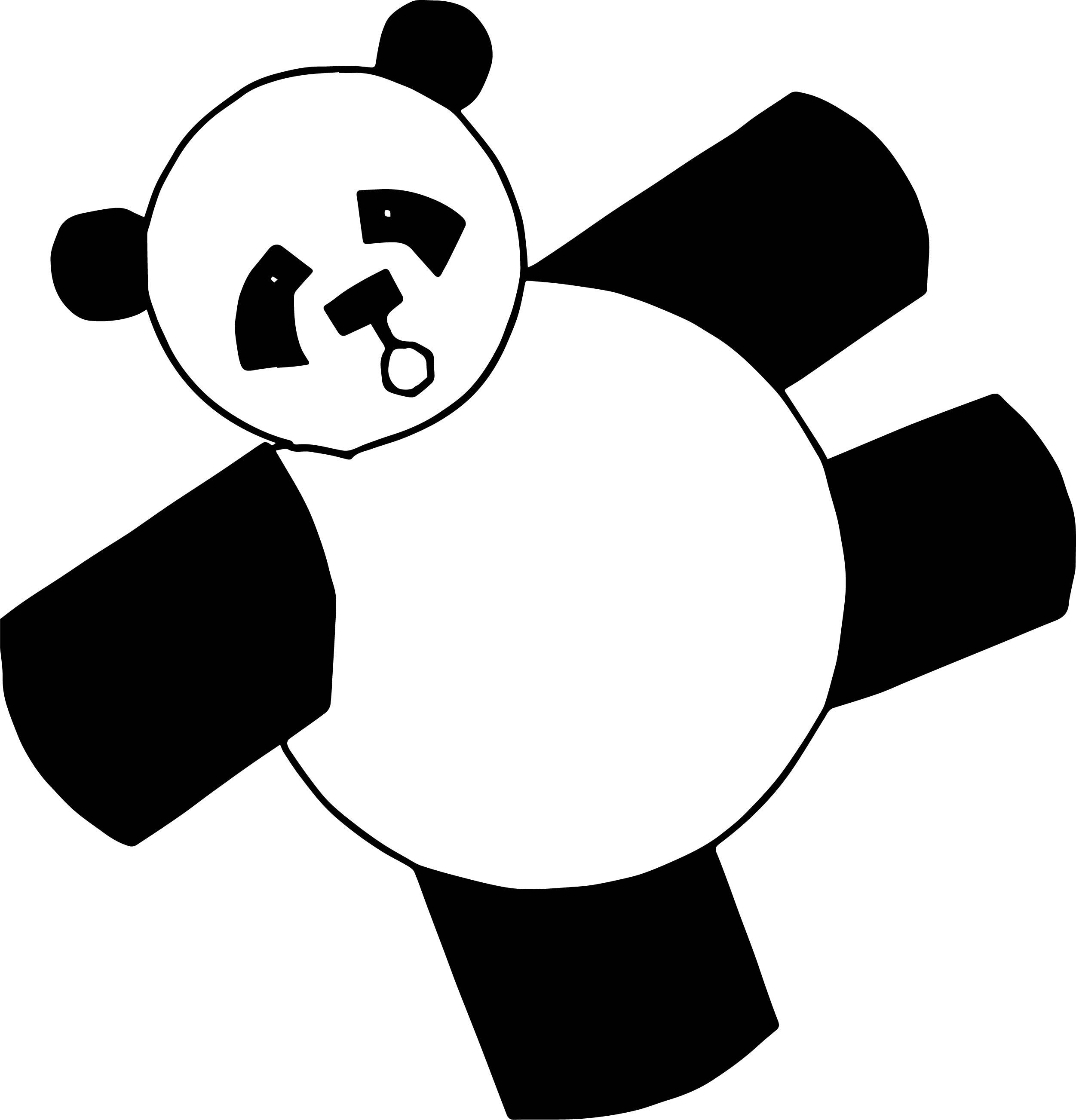 And Bear Panda Coloring Page