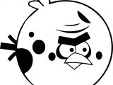Angry Birds Big Bird Coloring Page