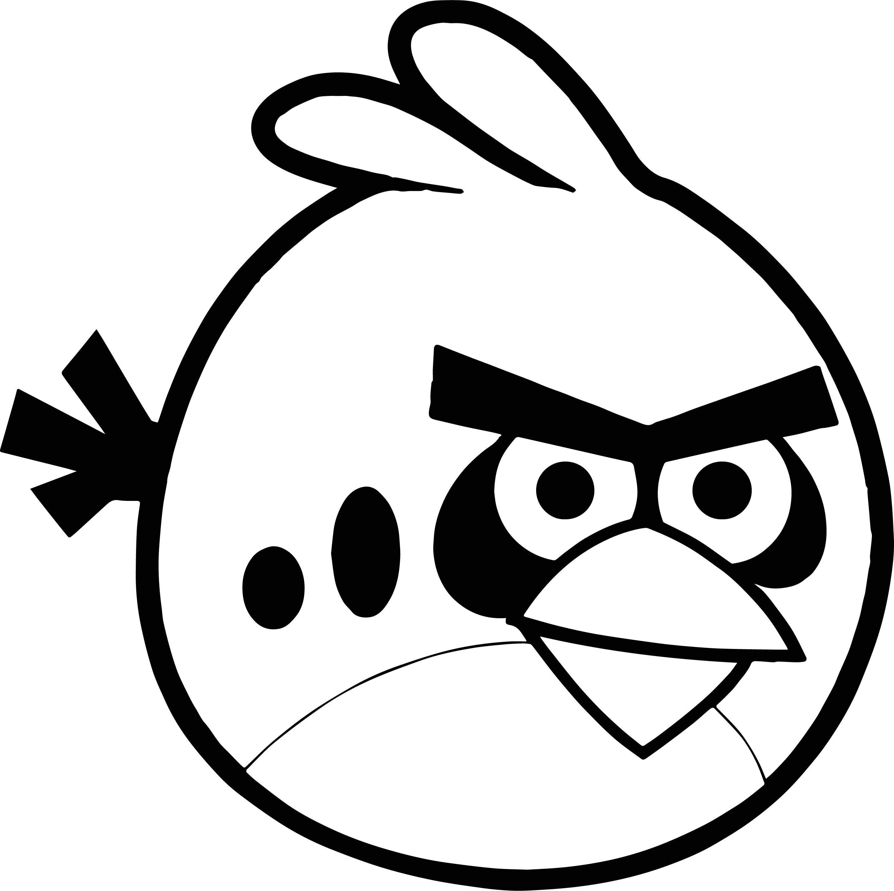 Angry Birds Logo Coloring Page