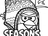 Angry Birds Seasons On Finn Ice Coloring Page