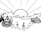 Angry Birds Village Coloring Page