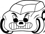 Angry Car Coloring Page