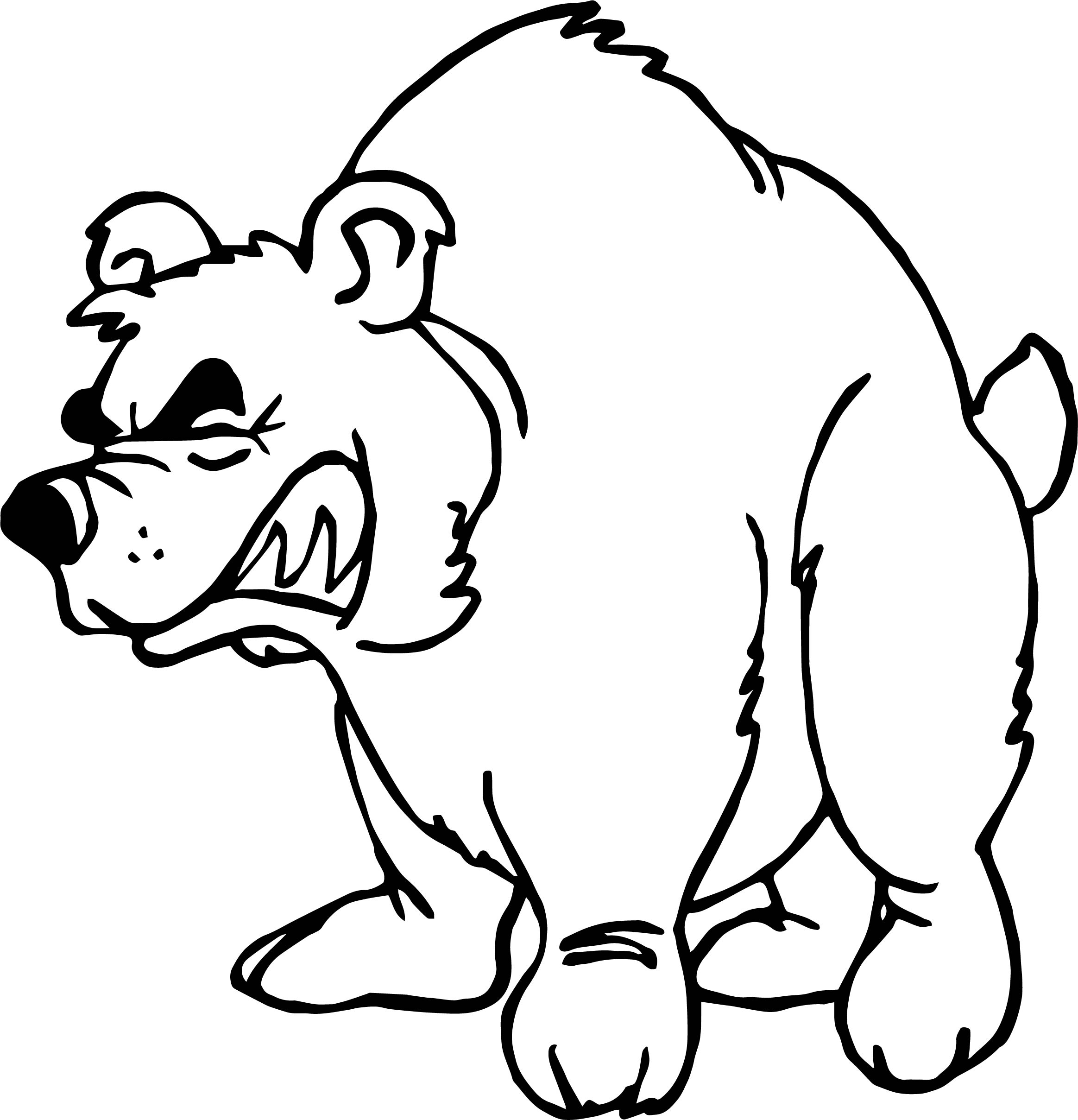 Angry Home Bear Coloring Page