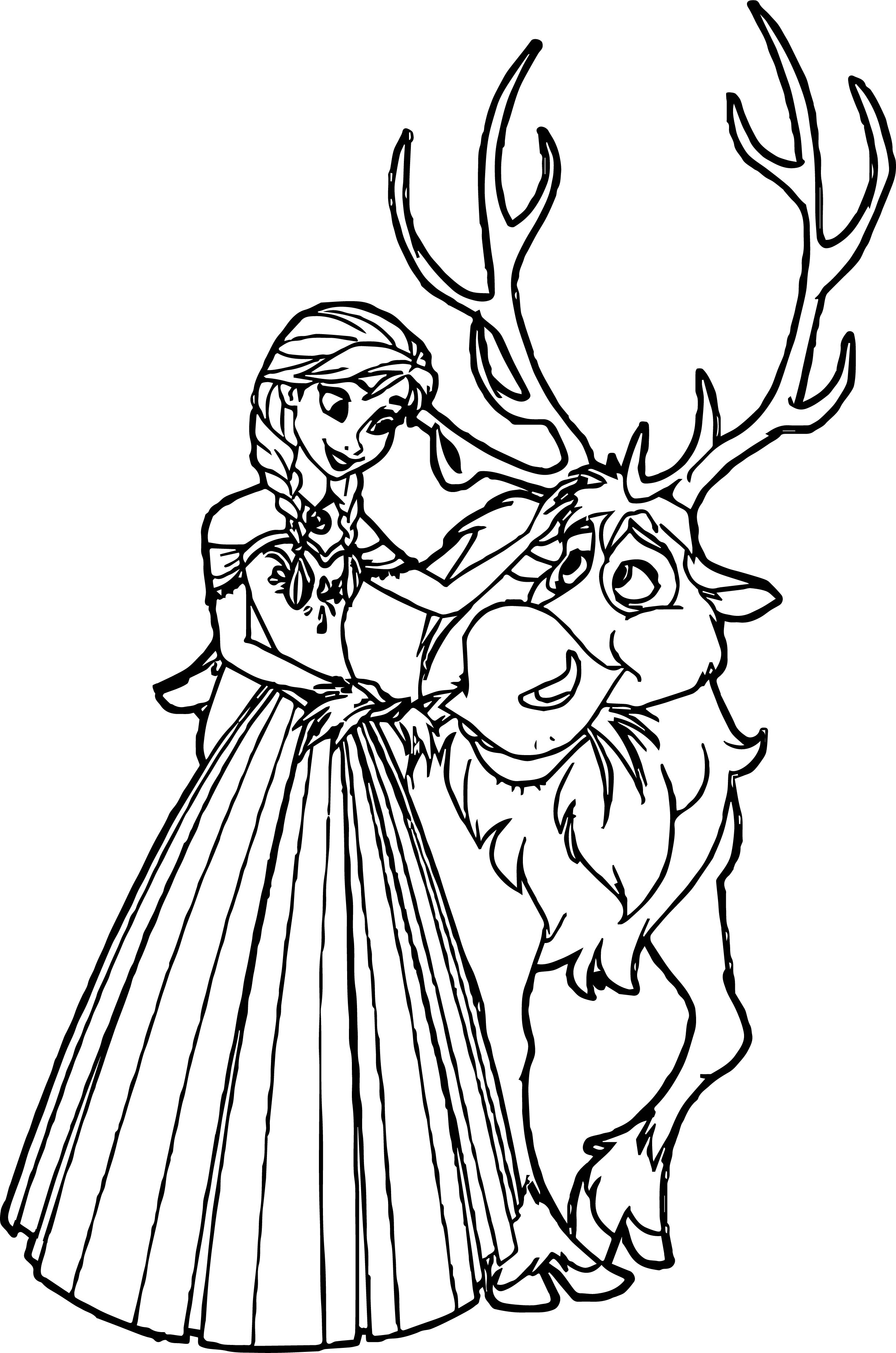 Anna Sven Coloring Page   Wecoloringpage
