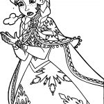 Anna Turning Toice Coloring Page