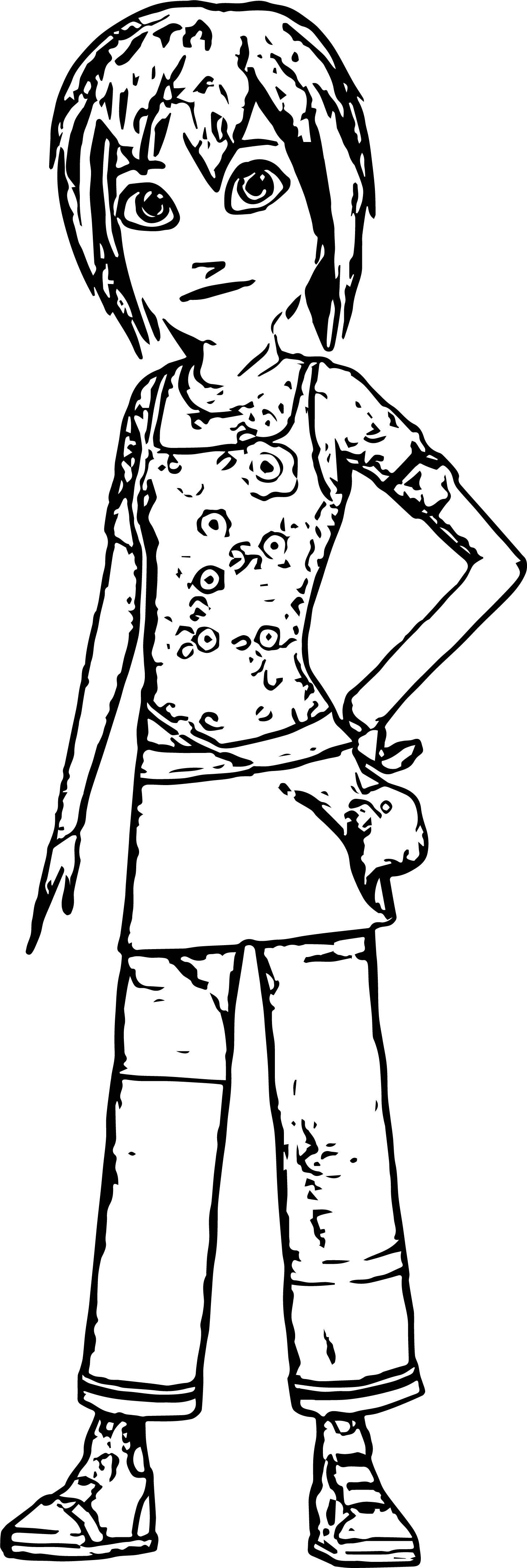 Astro Boy Girl Coloring Page