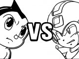 Astro Boy Mega Man Coloring Page