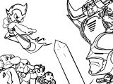 Astro Boy Reluctant Hero Coloring Page