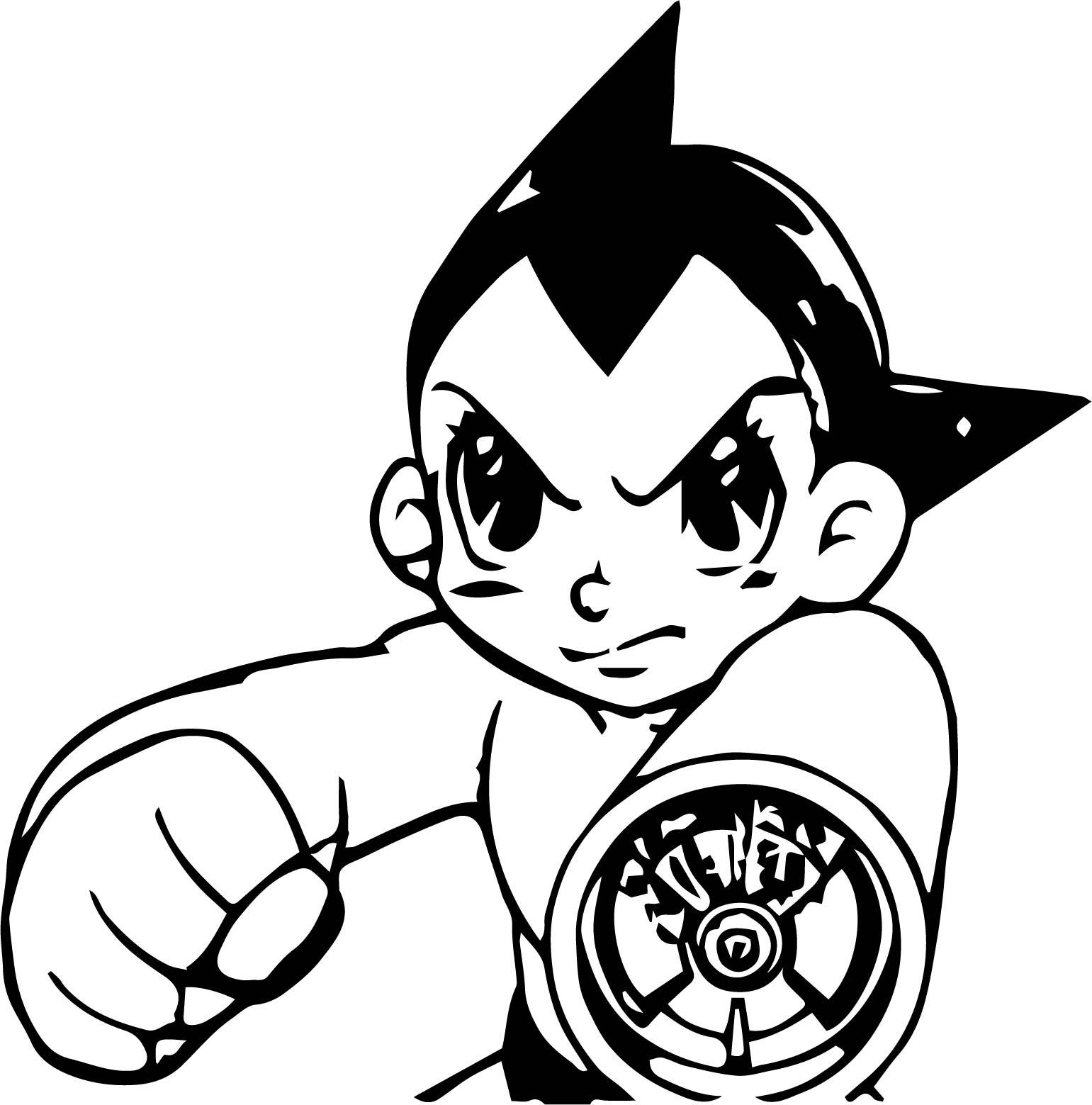 Astro Boy Tetsuwan Atom Manga Bang Coloring Page