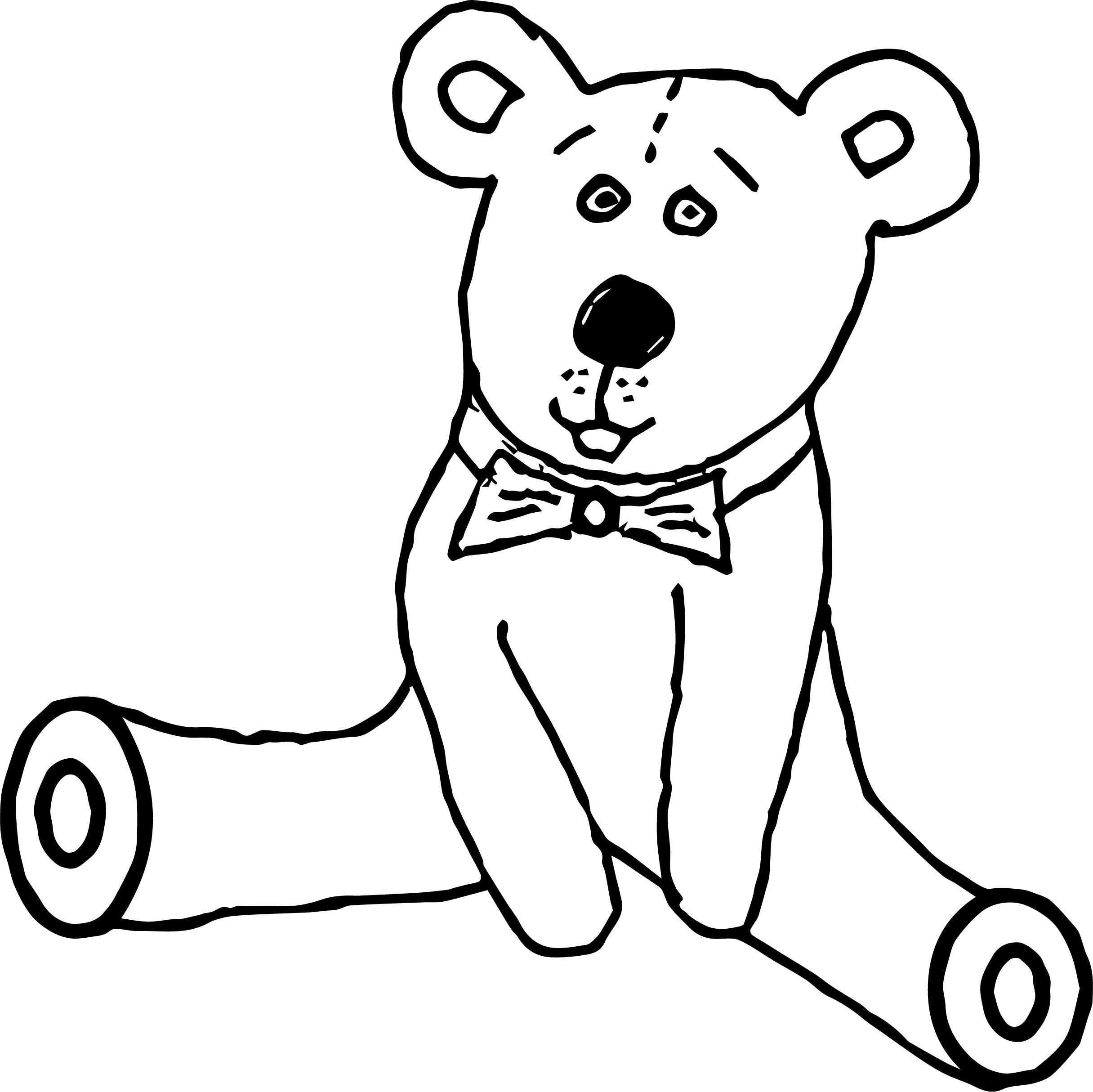At Bear Coloring Page