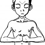 Avatar Aang Meditation Coloring Page