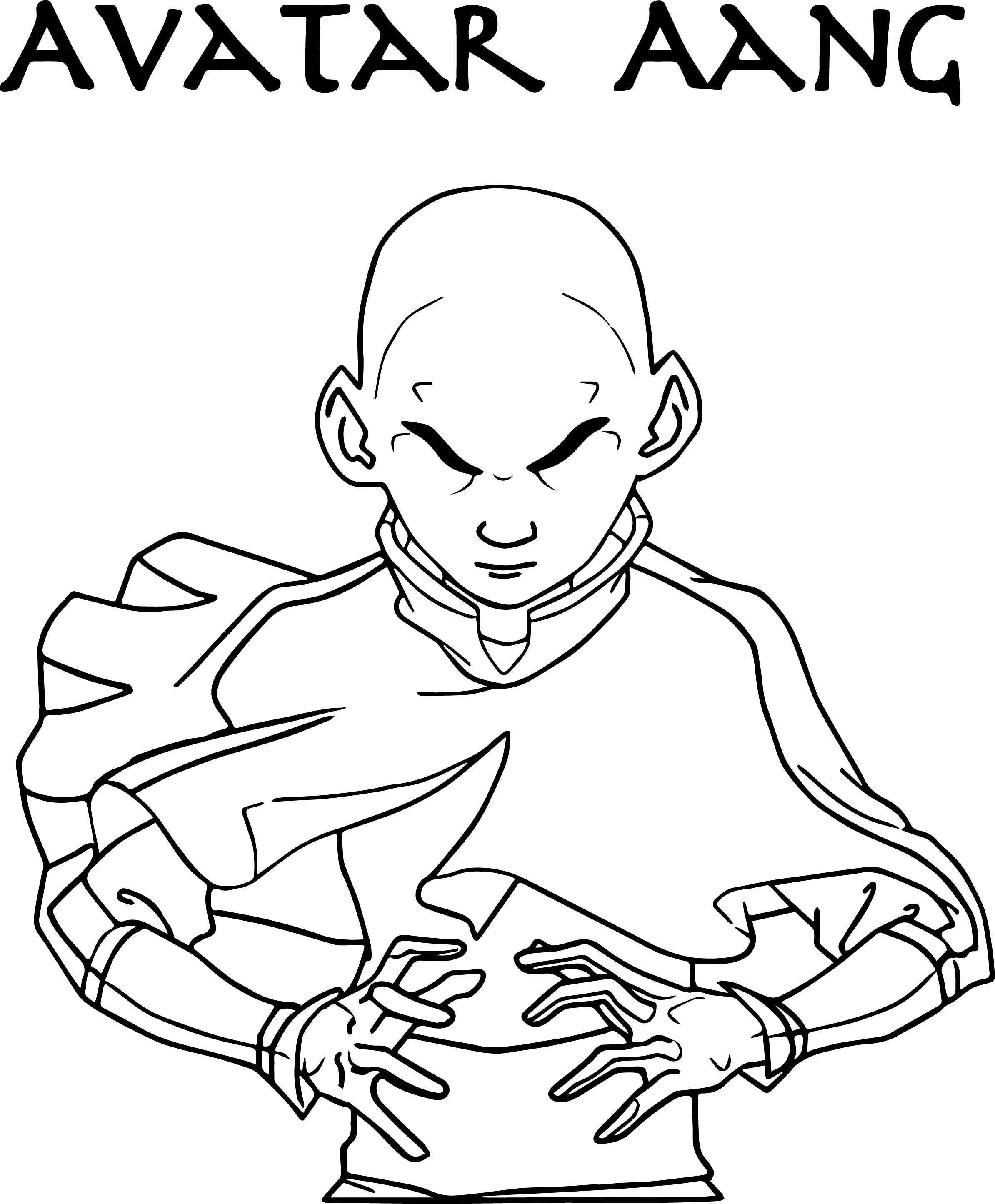 Avatar Aang Stephen Dss Avatar Aang Coloring Page