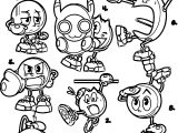 Awesome Pac Man Doodles Coloring Page