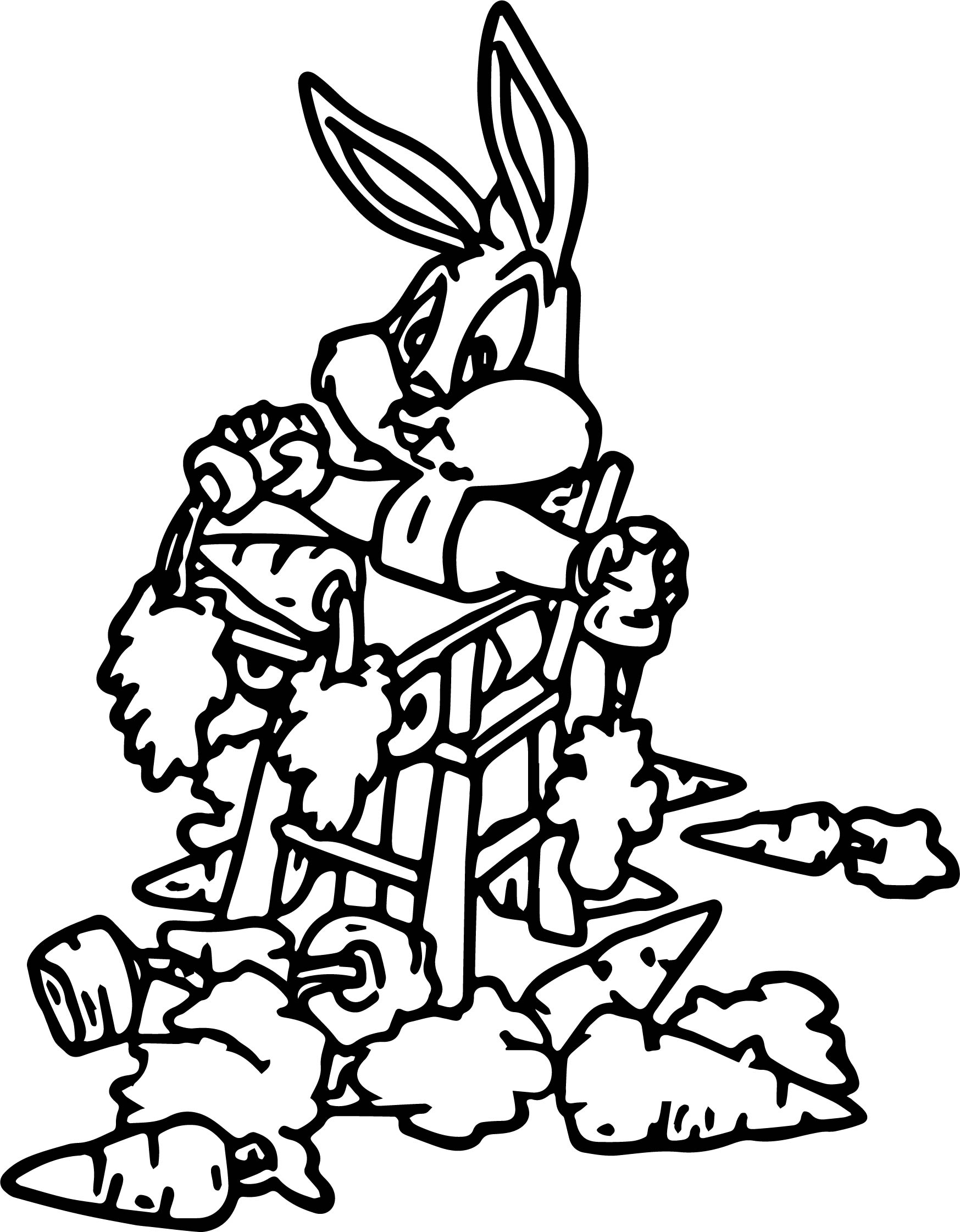 Baby Bugs Bunny Carrot Food Coloring Page
