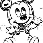 Baby Mickey Bubbles Coloring Page