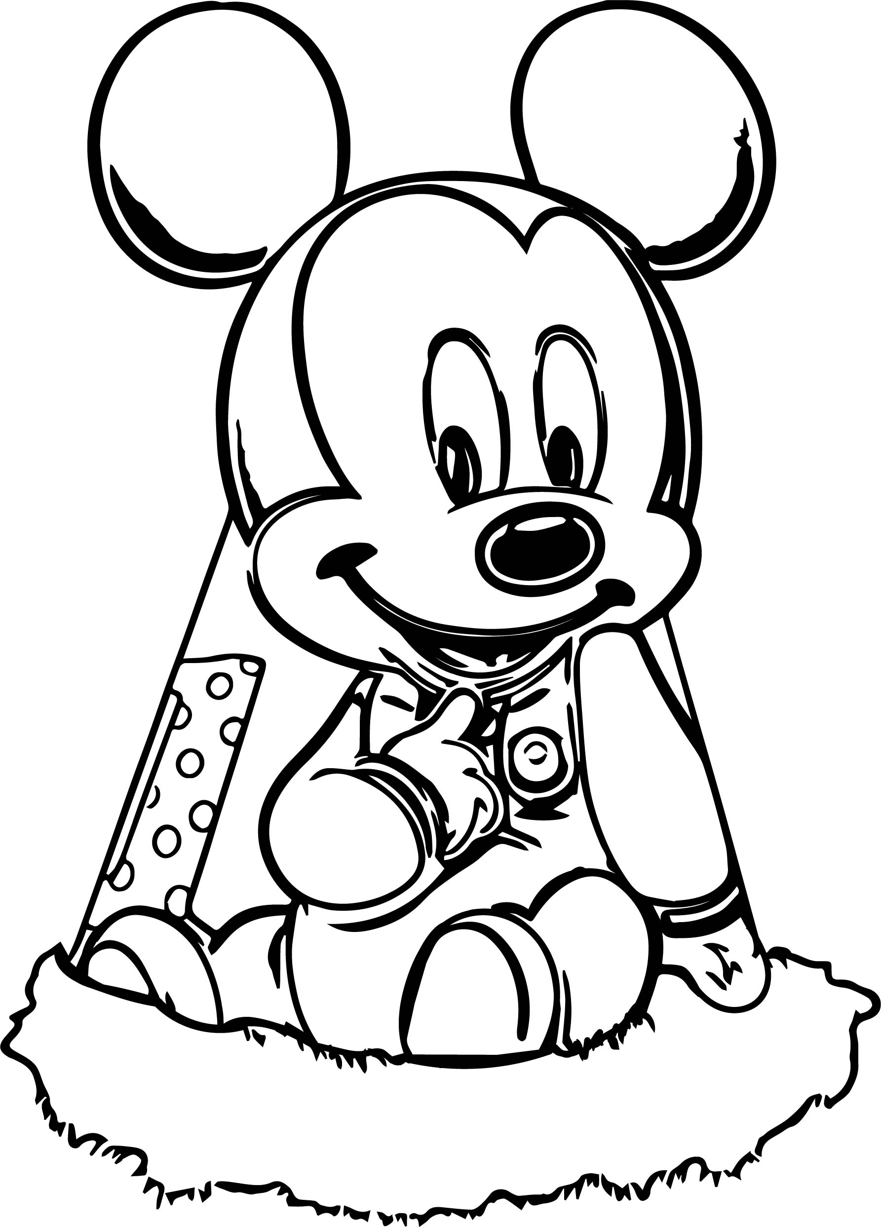Baby Mickey Camp Coloring Page