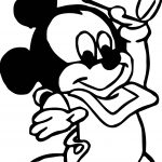 Baby Mickey First Milk Coloring Page