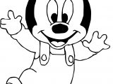 Baby Mickey First Walk Coloring Page