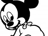 Baby Mickey Look Back Coloring Page