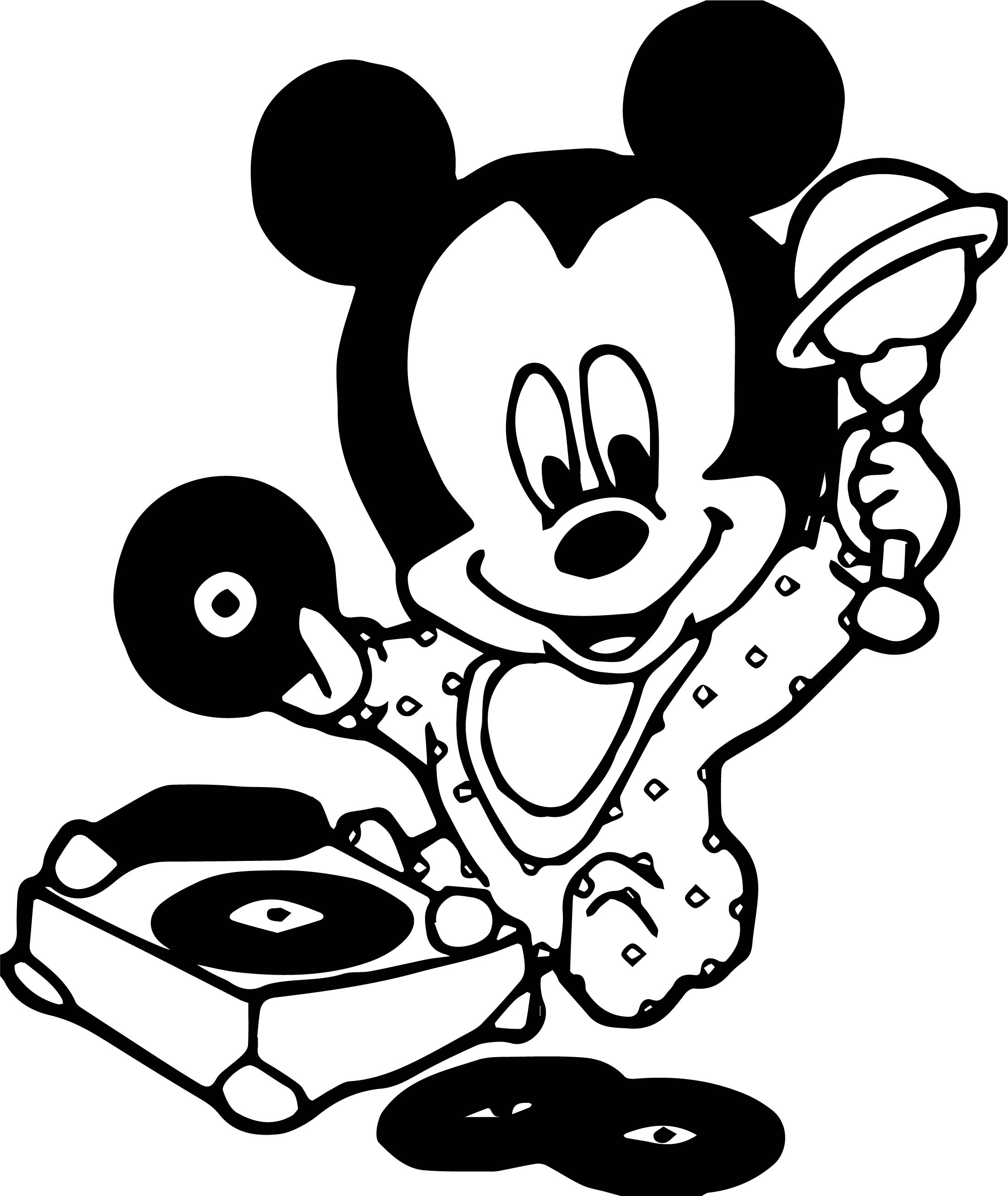 Baby Mickey Music Coloring Page