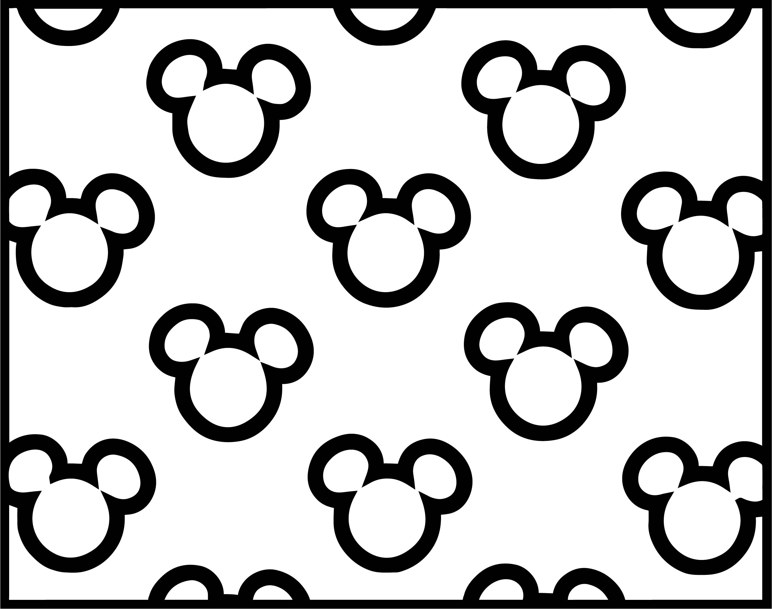 Baby Mickey Outline Faces Coloring Page