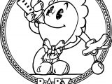 Baby Pacman Coloring Page