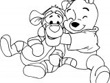 Baby Tigger And Winnie The Pooh Baby Coloring Page