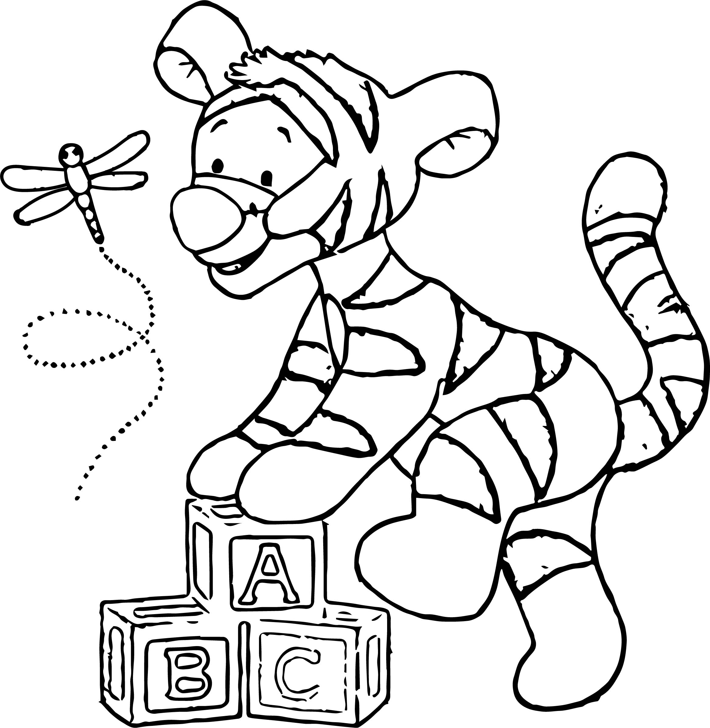 Baby Tigger Flyer Coloring Page