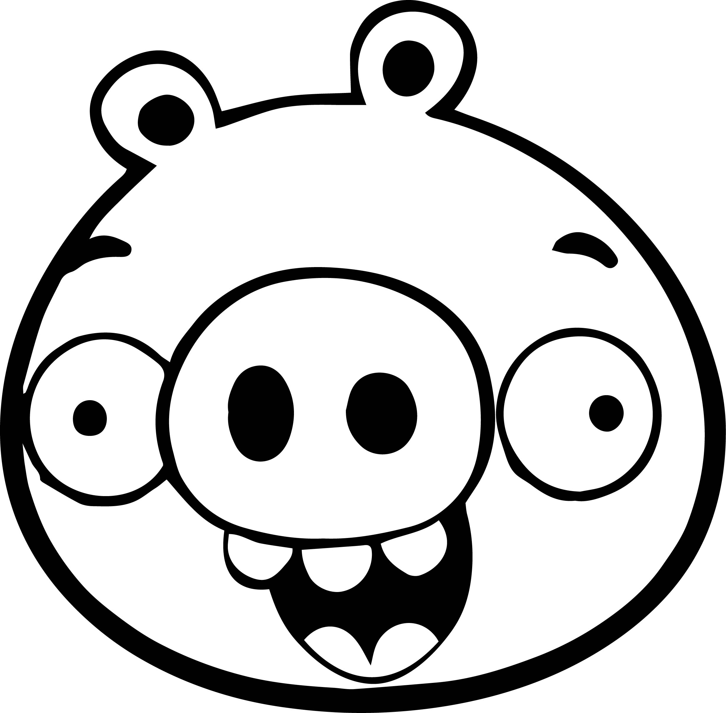 Bad Piggies Pig Coloring Page