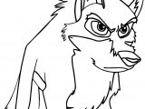 Balto Dog Attack Time Coloring Page