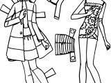 Barbie Cutout Coloring Page