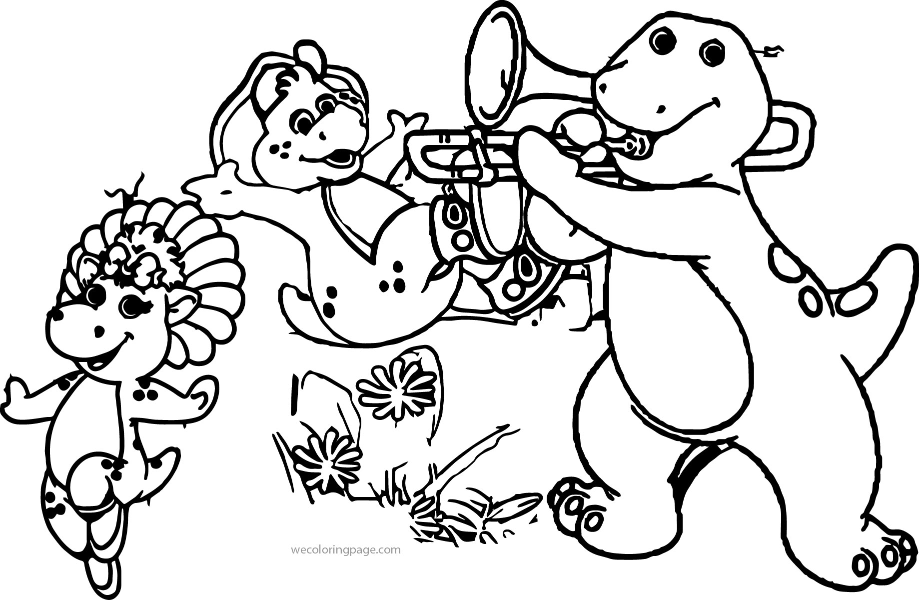 Barney And Friends Coloring Page