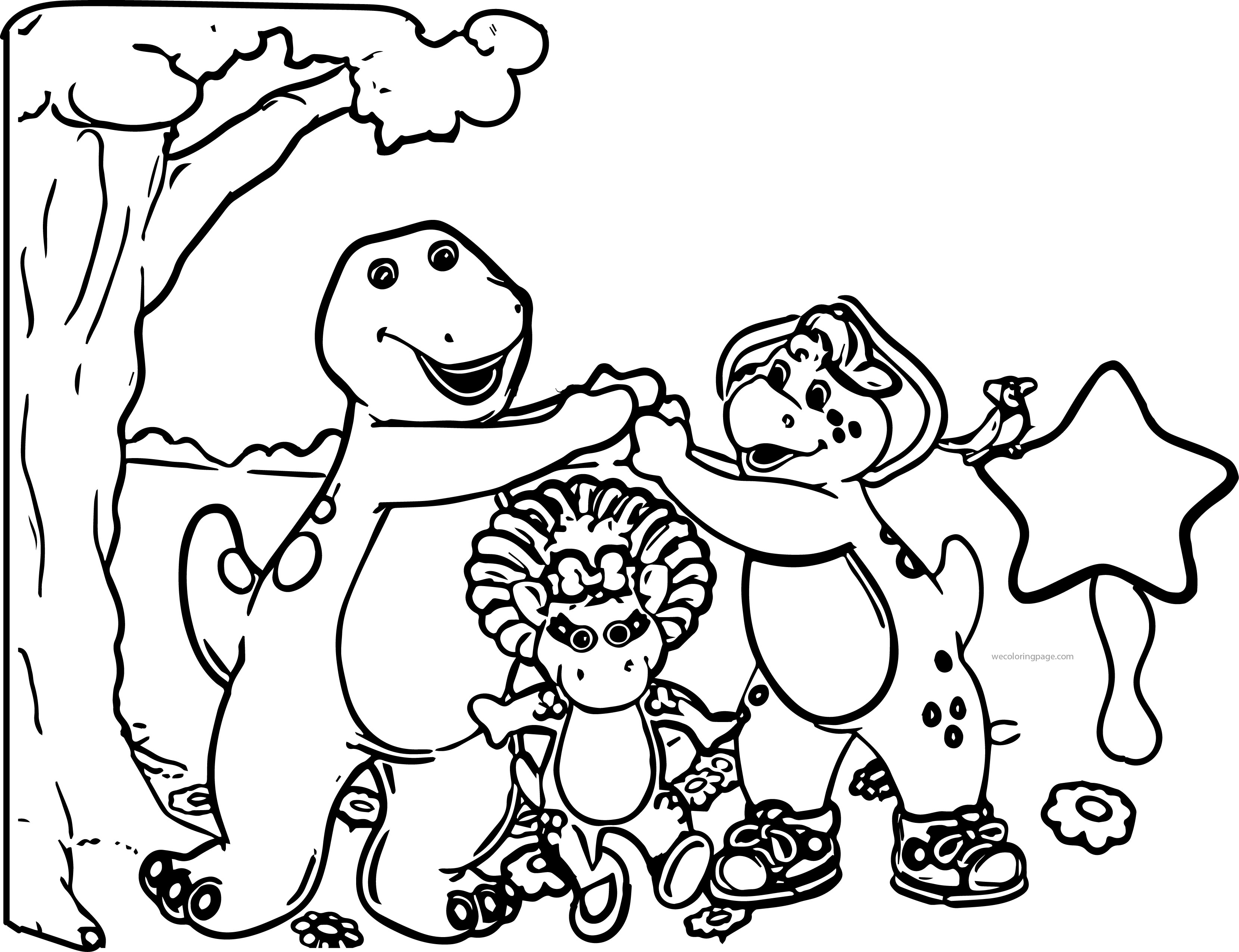 Barney And Friends Play Coloring Page