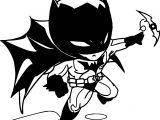 Batman Chibi Object Coloring Page