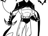 Batman Night Bat Coloring Page
