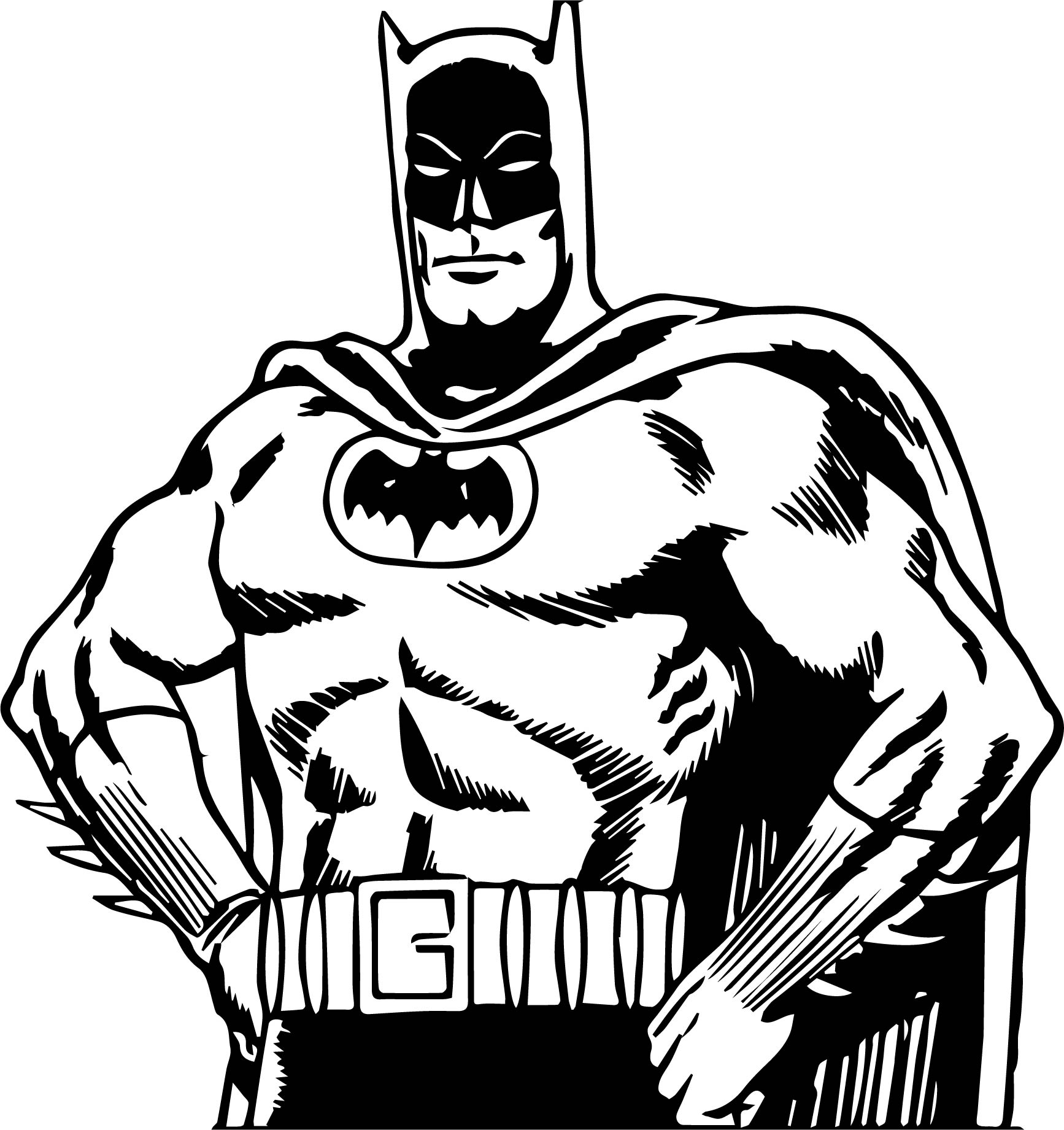 Batman Ok Coloring Page