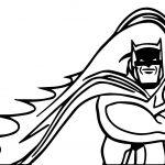 Batman Run Half Coloring Page