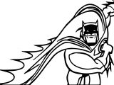 Batman Run Half Coloring Page