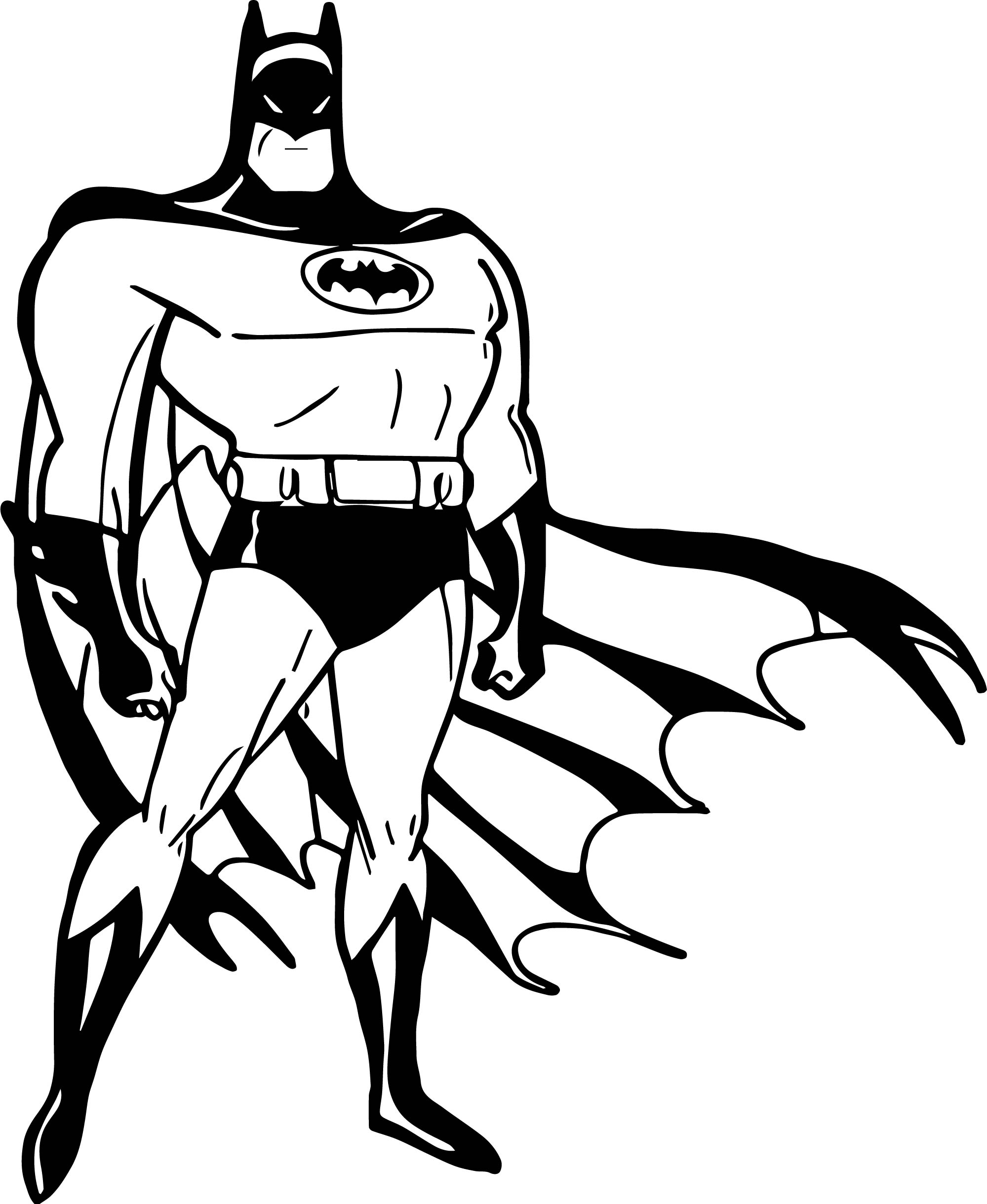 Batman Wind Pose Coloring Page