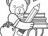 Bear Big Pencil Coloring Page