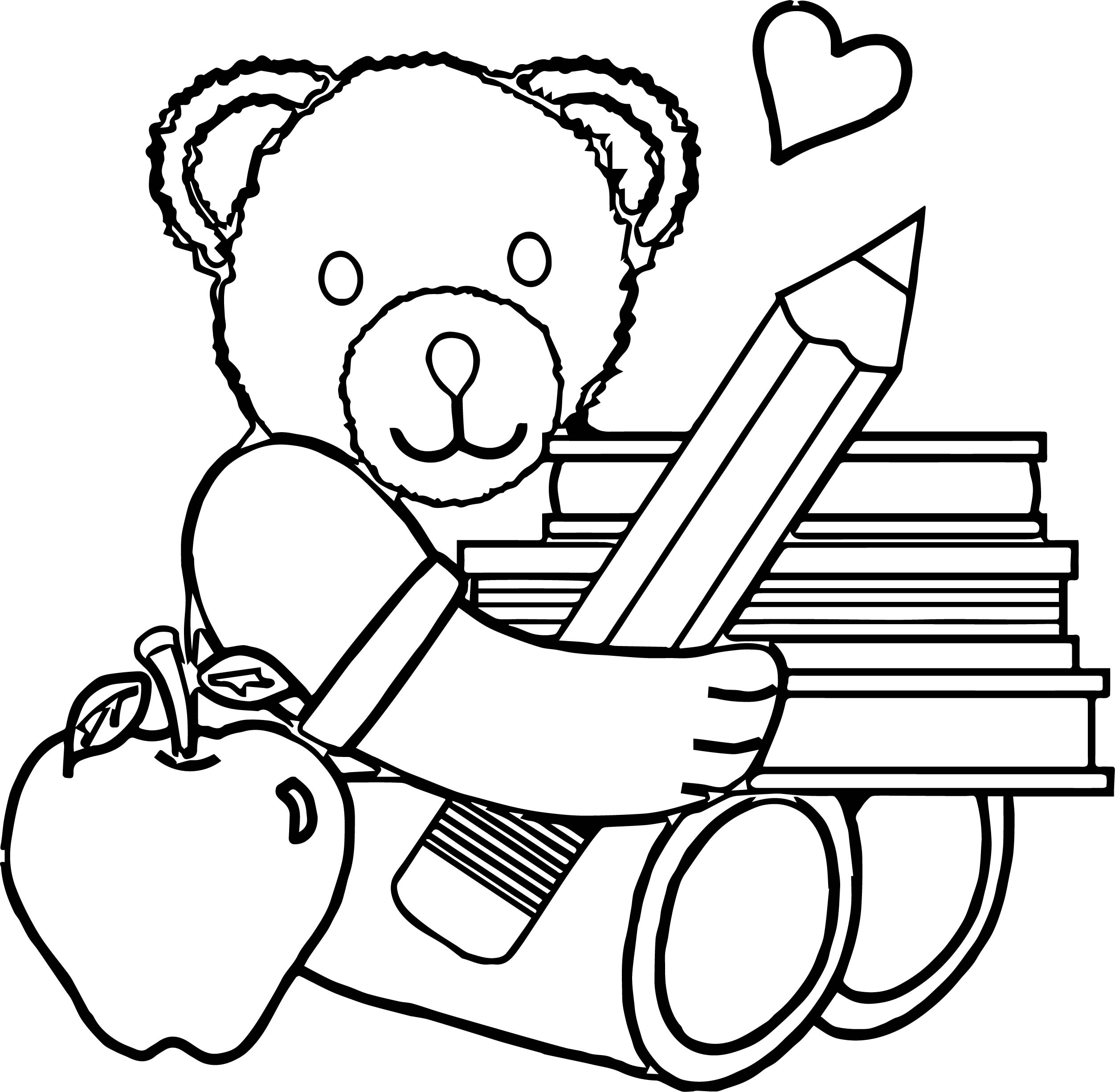 Bear big pencil coloring page for Big coloring pages