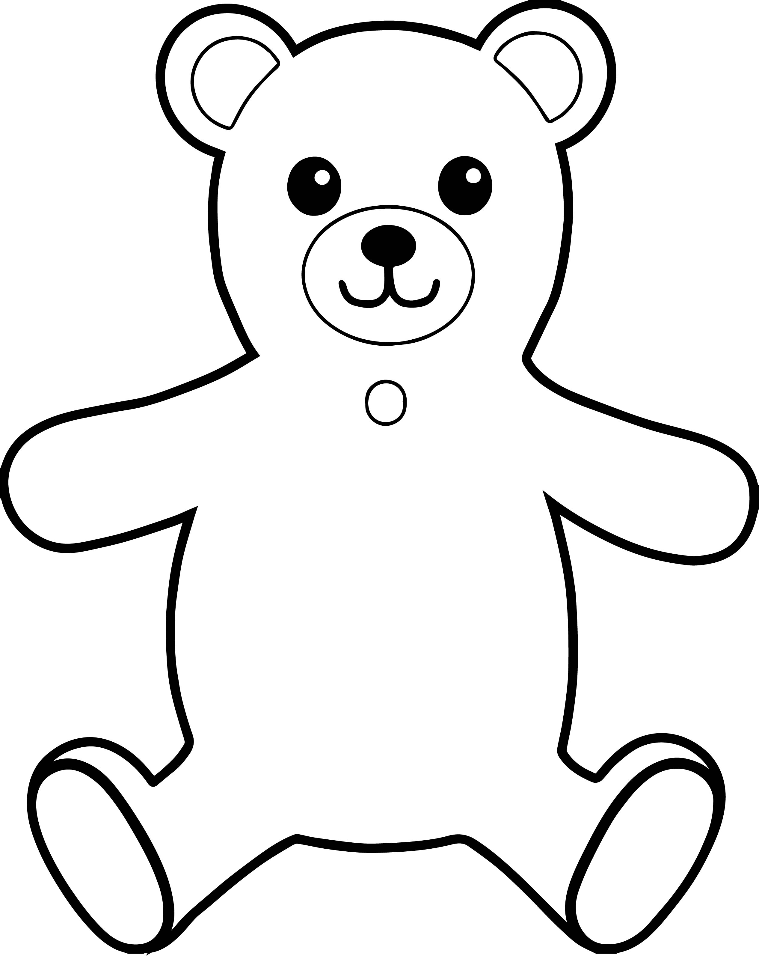 Bear Front View Hug Coloring Page