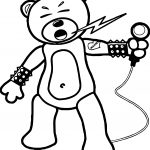Bear Rock Singer Coloring Page