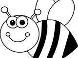 Bee Coloring Cartoon Page