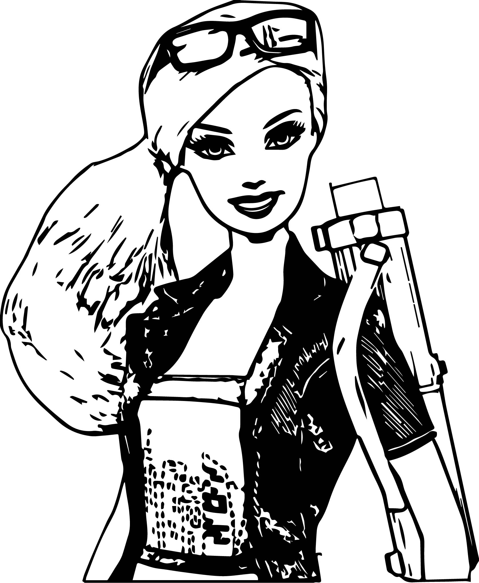 Big Barbie Crop Coloring Page