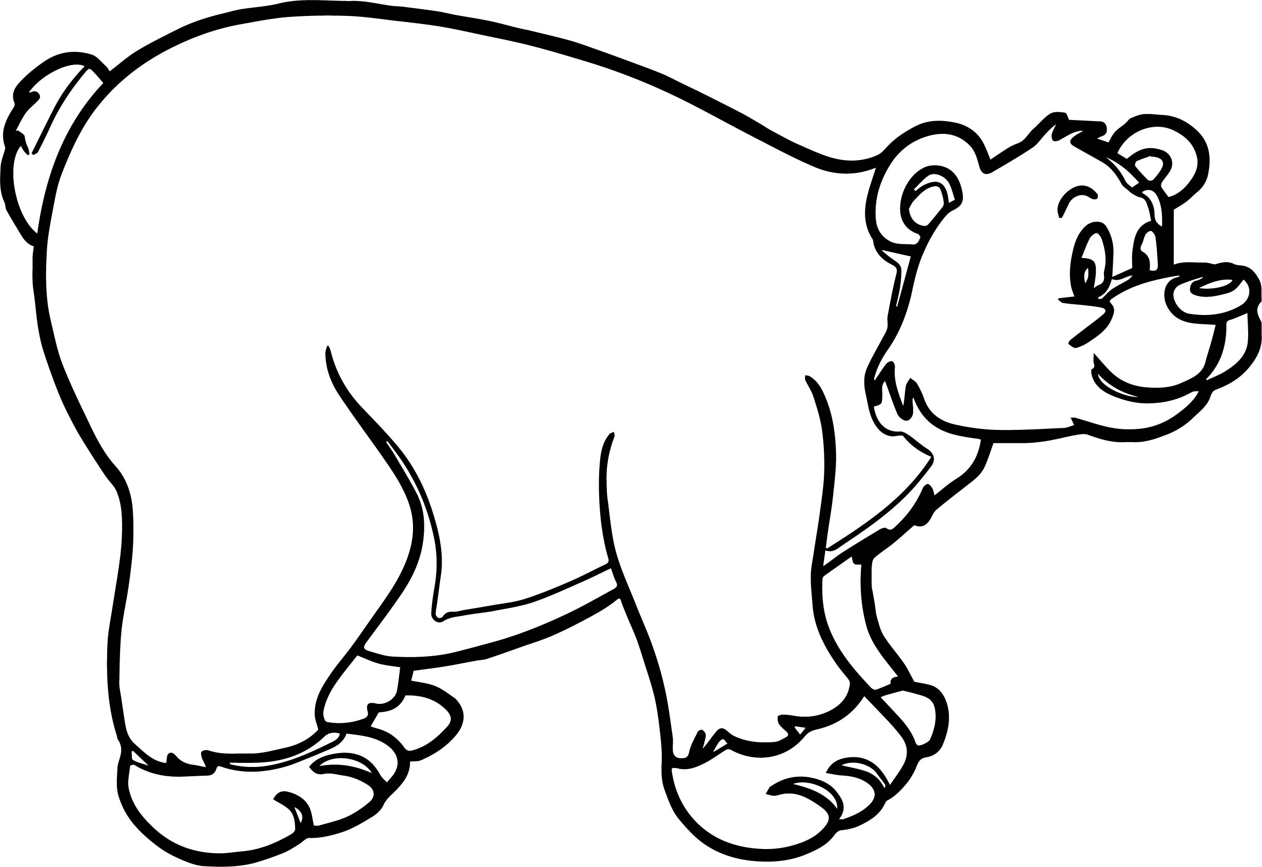 Big brown bear coloring pages ~ Big Bear Coloring Page | Wecoloringpage.com