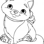 Big Cute Cat Man Coloring Page