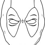 Black White Outline Deadpool Coloring Page