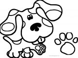 Blue Paw Print Coloring Page