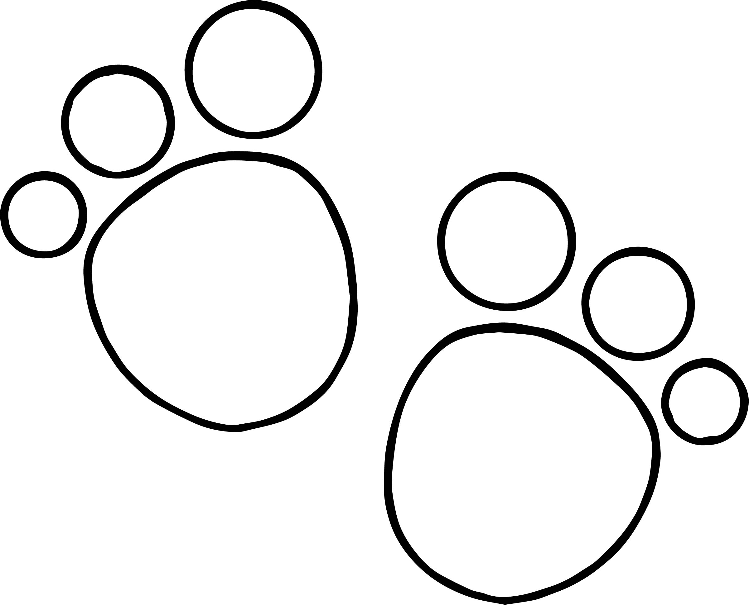 Blues Clues Foot Print Coloring Page